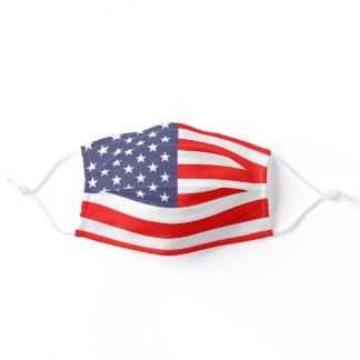 Patriotic American flag of the United States Adult Cloth Face Mask