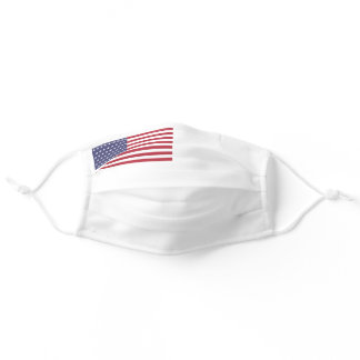 Patriotic American Flag Red White Blue Adult Cloth Face Mask