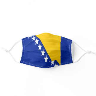 Patriotic Bosnia Herzegovina Flag Adult Cloth Face Mask