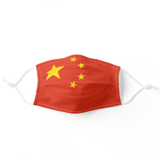 Patriotic Chinese Flag Adult Cloth Face Mask