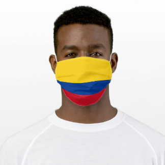 Patriotic Colombia Flag Adult Cloth Face Mask