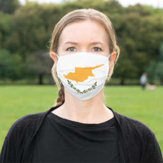 Patriotic Cyprus Flag Adult Cloth Face Mask