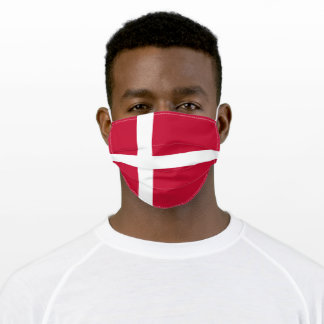 Patriotic Denmark Flag Adult Cloth Face Mask
