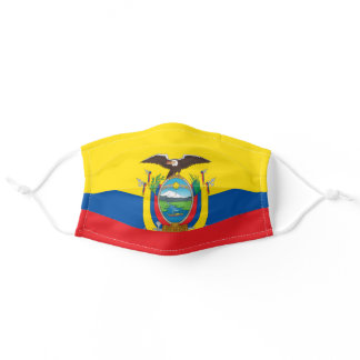 Patriotic Ecuador Flag Adult Cloth Face Mask