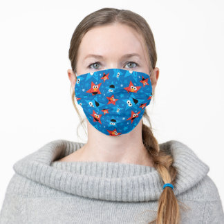 Patriotic Elmo and Cookie Monster Pattern Cloth Face Mask