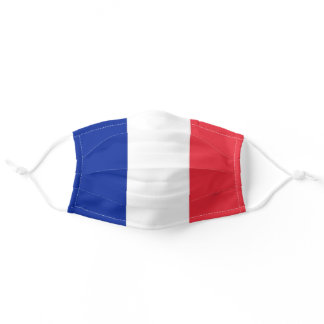 Patriotic Flag of France Blue White Red Adult Cloth Face Mask