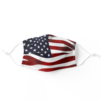 Patriotic Flying American Flag Photo Face Mask