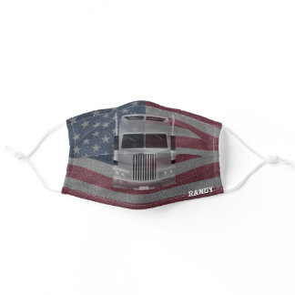 Patriotic Gifts, Truck Drivers Adult Cloth Face Mask