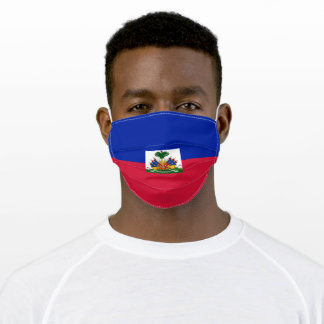 Patriotic Haiti Flag Adult Cloth Face Mask