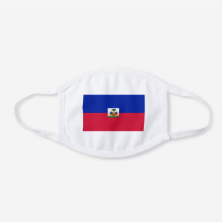Patriotic Haiti Flag White Cotton Face Mask