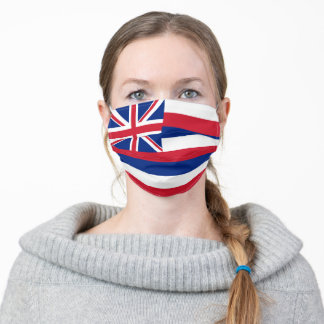Patriotic Hawaii State Flag Adult Cloth Face Mask