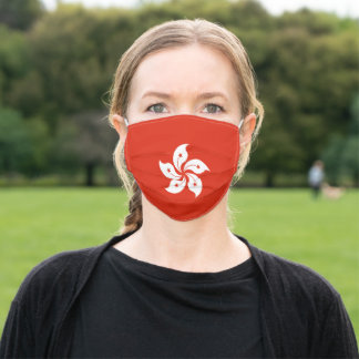 Patriotic Hong Kong Flag Adult Cloth Face Mask