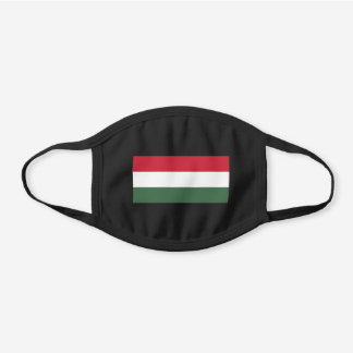 Patriotic Hungary Flag Black Cotton Face Mask