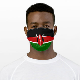 Patriotic Kenya Flag Adult Cloth Face Mask