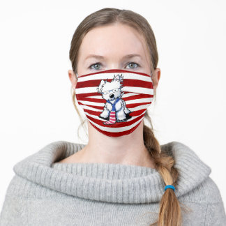 Patriotic KiniArt Westie Face Mask