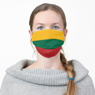 Patriotic Lithuania Flag Adult Cloth Face Mask