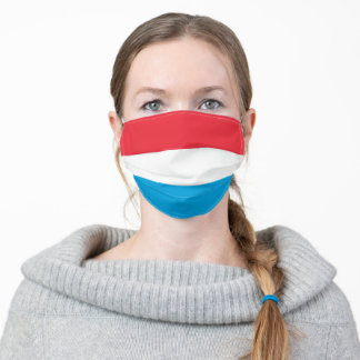 Patriotic Luxembourg Flag Adult Cloth Face Mask