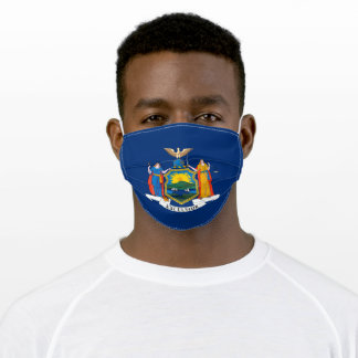 Patriotic New York State Flag Adult Cloth Face Mask