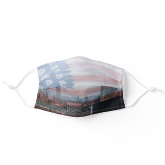 Patriotic NYC with Star-Spangled Banner Flag Adult Cloth Face Mask