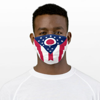 Patriotic Ohio State Flag Adult Cloth Face Mask