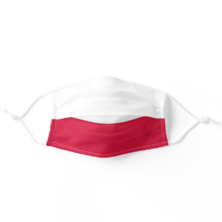 Patriotic Poland Flag White and Red Adult Cloth Face Mask