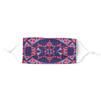 Patriotic Red, White and Blue Mandala Adult Cloth Face Mask