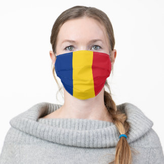 Patriotic Romania Flag Adult Cloth Face Mask