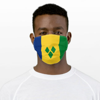 Patriotic Saint Vincent Flag Adult Cloth Face Mask