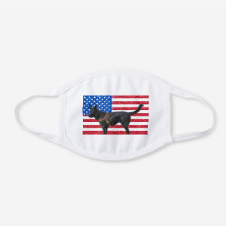 Patriotic Shepherd White Cotton Face Mask