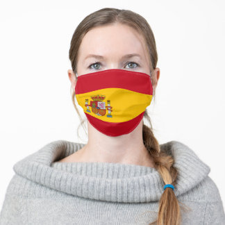 Patriotic Spain Flag Adult Cloth Face Mask