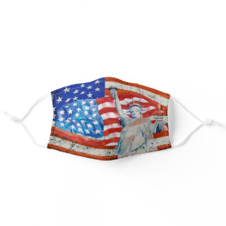 Patriotic, Stars and Stripes, USA, American Flag Adult Cloth Face Mask