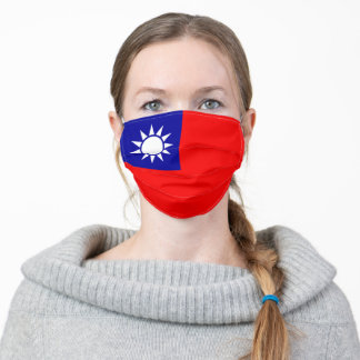 Patriotic Taiwan Flag Adult Cloth Face Mask