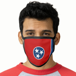 Patriotic Tennessee State Flag Face Mask