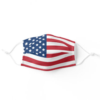 Patriotic United States of America Flag Pattern Adult Cloth Face Mask