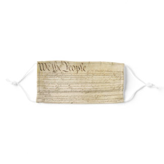 Patriotic US Constitution - We the People Adult Cloth Face Mask