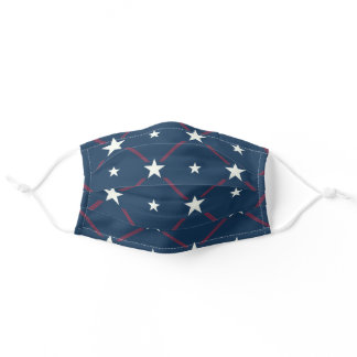 Patriotic US star pattern Adult Cloth Face Mask