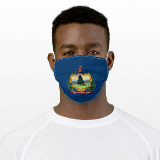Patriotic Vermont State Flag Adult Cloth Face Mask