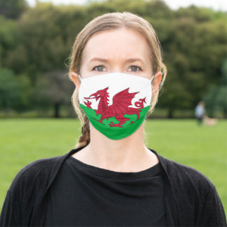 Patriotic Wales Flag Adult Cloth Face Mask