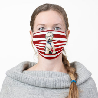 Patriotic Wheaten Terrier Face Mask