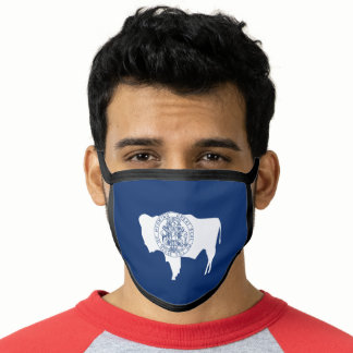 Patriotic Wyoming State Flag Face Mask