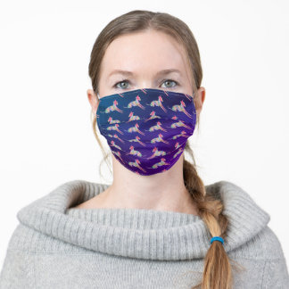 Patterned Italian Greyhound Adult Cloth Face Mask
