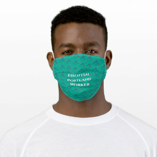 PDX Airport Carpet | PORTLAND | Essential Worker Adult Cloth Face Mask