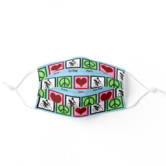 Peace Love Cycling Adult Cloth Face Mask