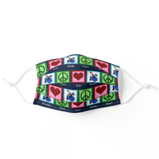 Peace Love Drums Adult Cloth Face Mask