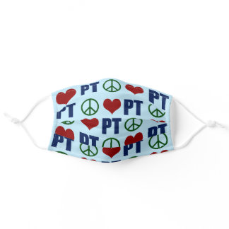 Peace Love Physical Therapy PT Pattern Adult Cloth Face Mask