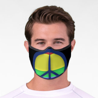 Peace Rainbow Gay Pride Face Mask
