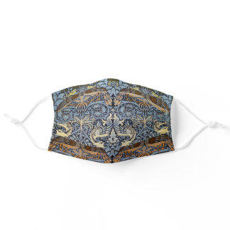 Peacock and Dragon, William Morris Adult Cloth Face Mask