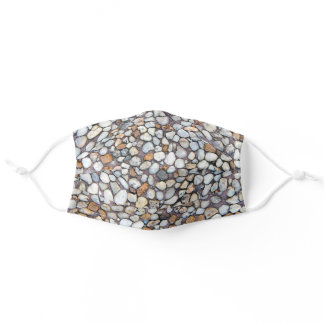pebble stones adult cloth face mask