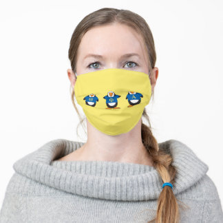Penguins with Shirts Adult Cloth Face Mask