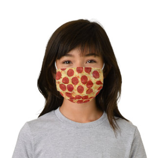 Pepperoni Pizza Cheese Slice Kids Cloth Face Mask